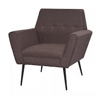 Кресло vidaXL, стомана и плат, кафяво, 72х66х78 см