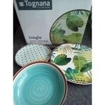 Tognana Jungle - 18 részes porcelán étkészlet, jó mély leveses tányérral