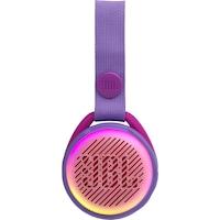 JBL JR POP Hordozható hangszóró gyerekeknek, Vezeték nélküli, Bluetooth, IPX7 Vízálló, 5 óra lejátszási idő, Lightshow, Auto-power off, Lila