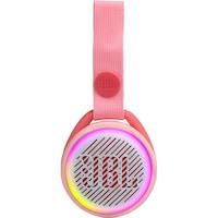 JBL JR POP Hordozható hangszóró gyerekeknek, Vezeték nélküli, Bluetooth, IPX7 Vízálló, 5 óra lejátszási idő, Lightshow, Auto-power off, Rózsaszín