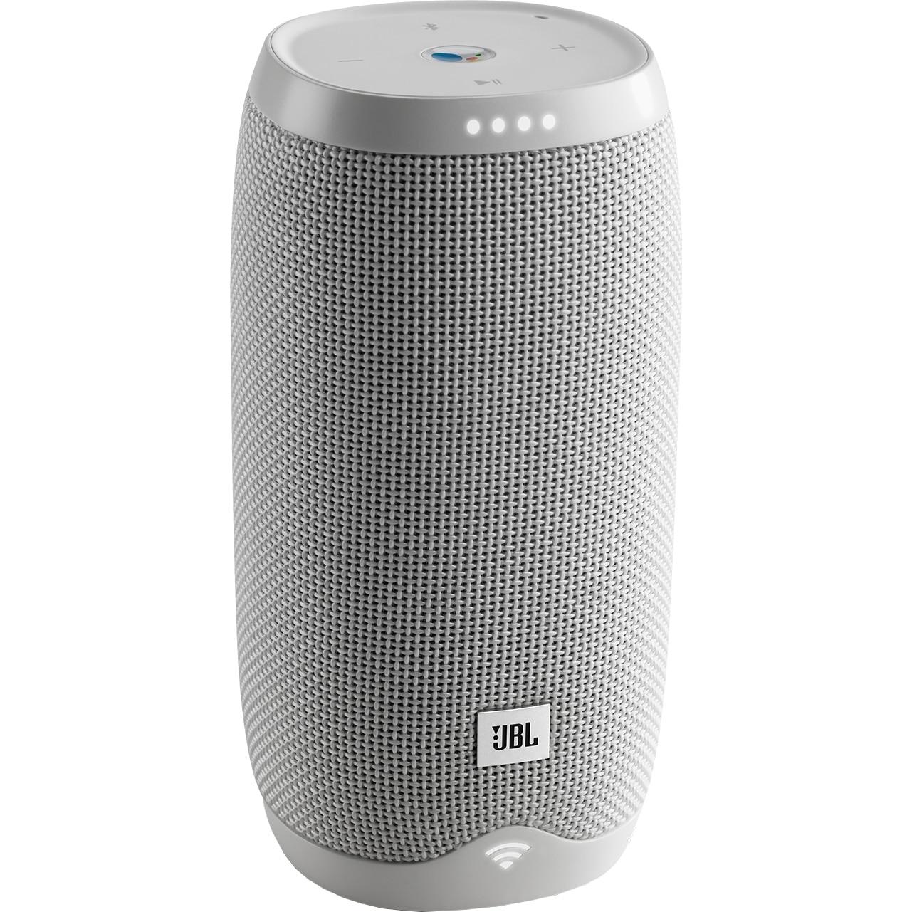 Fotografie Boxa portabila JBL LINK10, Smart, Google Assistant, Multi-room, Smart Home Control, IPX7 Waterproof, HD Audio, WiFi & Bluetooth, 5h Playback, alb