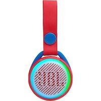 JBL JR POP Hordozható hangszóró gyerekeknek, Vezeték nélküli, Bluetooth, IPX7 Vízálló, 5 óra lejátszási idő, Lightshow, Auto-power off, Piros