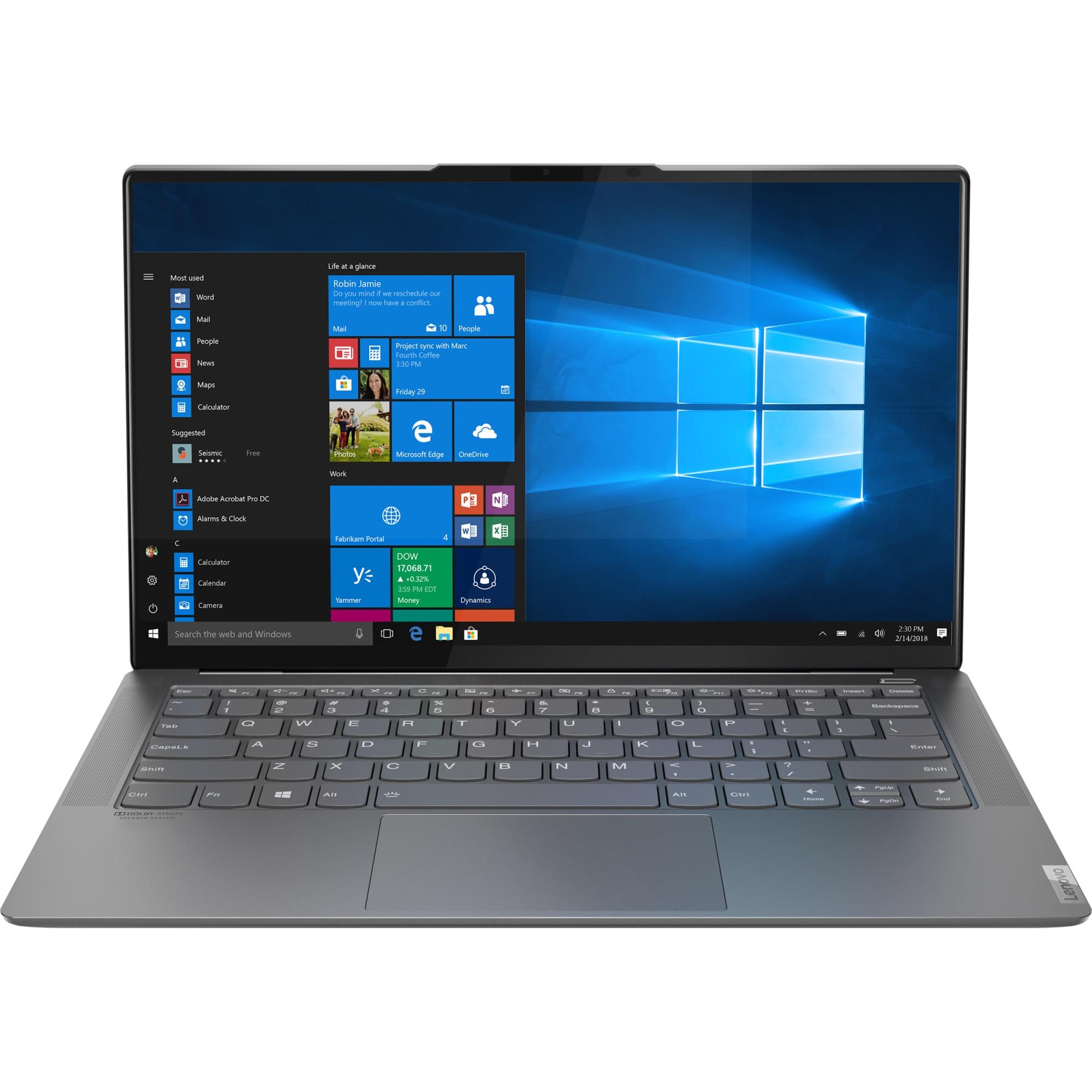 "Fotografie Laptop ultraportabil Lenovo YOGA S940-14IWL cu procesor Intel® Core™ i7-8565U pana la 4.60 GHz, Whiskey Lake, 14"", UHD, IPS, 16GB, 1TB SSD, Intel® UHD Graphics 620, Microsoft Windows 10, Iron Grey"