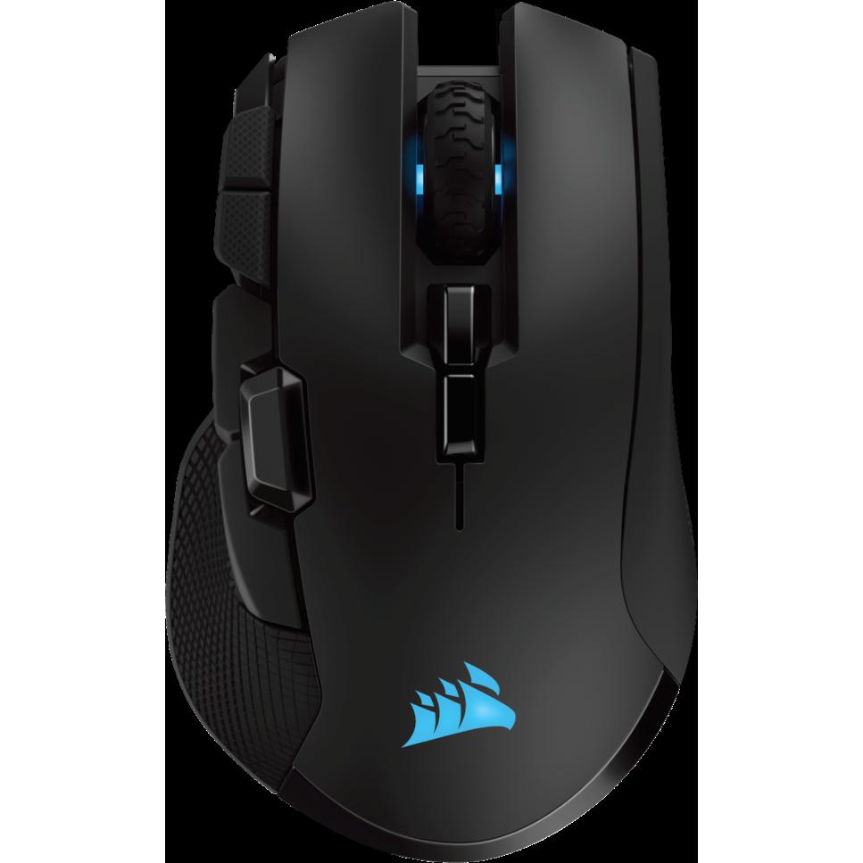 Fotografie Mouse wireless gaming Corsair Ironclaw RGB, senzor optic 18000DPI, Bluetooth&2.4Ghz, Negru