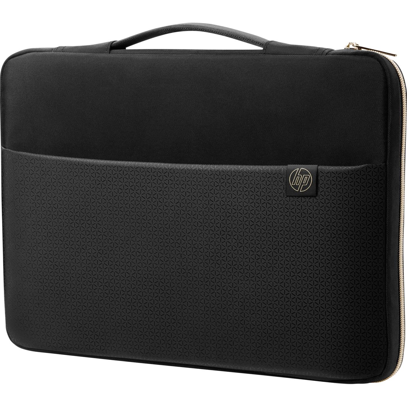 "Fotografie Husa laptop HP Carry Sleeve 14"", Negru/Auriu"