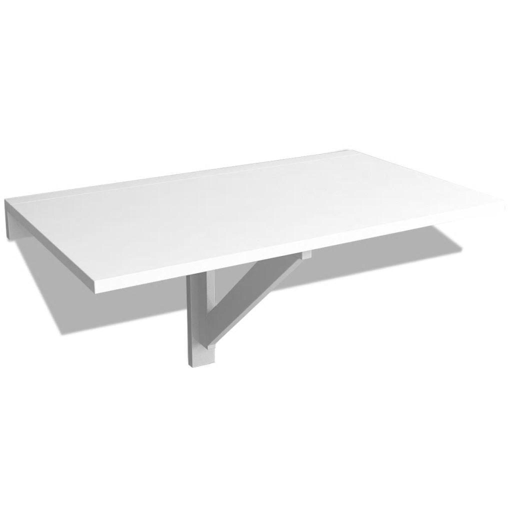 vidaXL lehajtható fali asztal 100 x 60 cm, Fehér