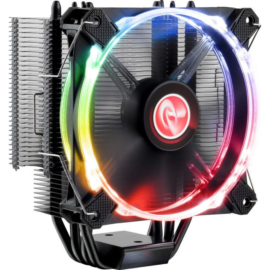 Fotografie Cooler Raijintek Leto Pro CPU Cooler, Black, RGB-LED - 120mm
