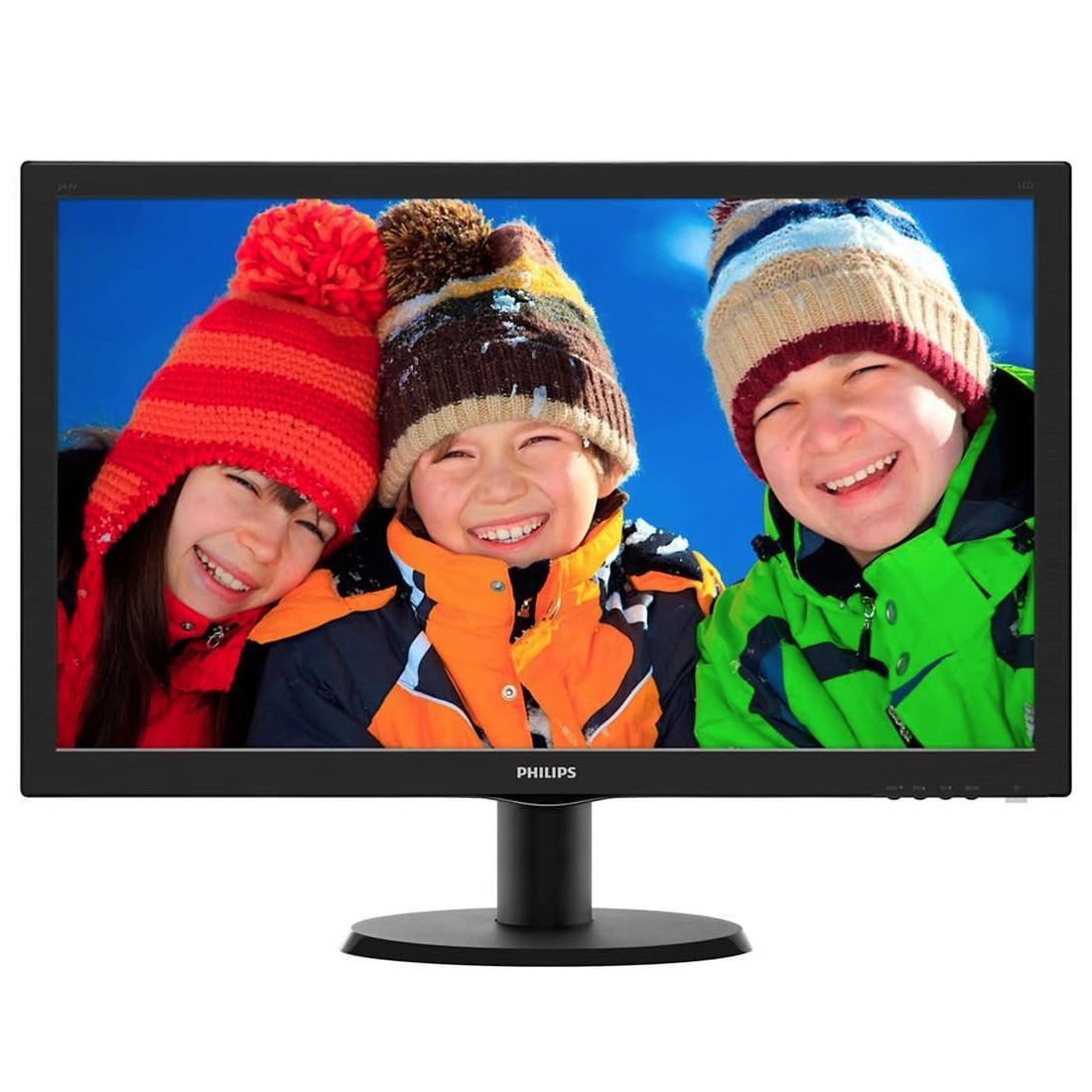 "Fotografie Monitor LED TN Philips 23.6"", Full HD, DVI, HDMI, Negru, 243V5LHSB/00"