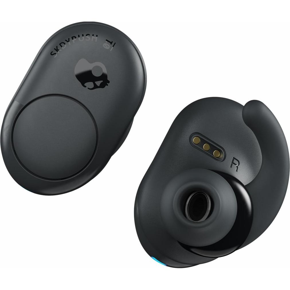 Fotografie Casti Audio In Ear Skullcandy Push, True Wireless, Bluetooth, Microfon, Autonomie 16 ore, Gri inchis