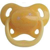 Szilikon ortodontikus játszócumi, 6H +, sárga, Primii Pasi