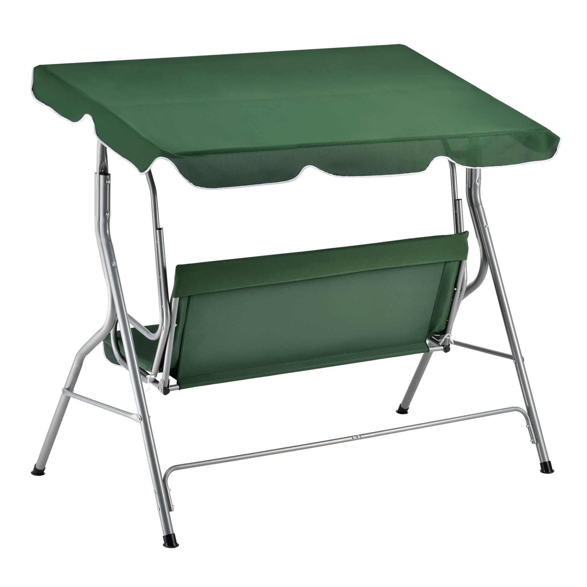 Balansoar Gradina Tina Casa Pro 170 X 110 X 153 Cm Metal Textil Verde Inchis Emag Ro