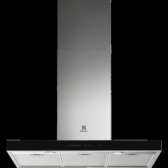 Fotografie Hota incorporabila decorativa Electrolux LFT769X, Putere de absorbtie 700 mc/h, 1 motor, 90 cm, Conectivitate plita, Inox