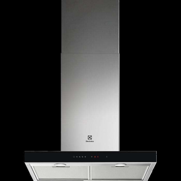 Fotografie Hota incorporabila decorativa Electrolux LFT766X, Putere de absorbtie 700 mc/h, 1 motor, 60 cm, Conectivitate plita, Inox