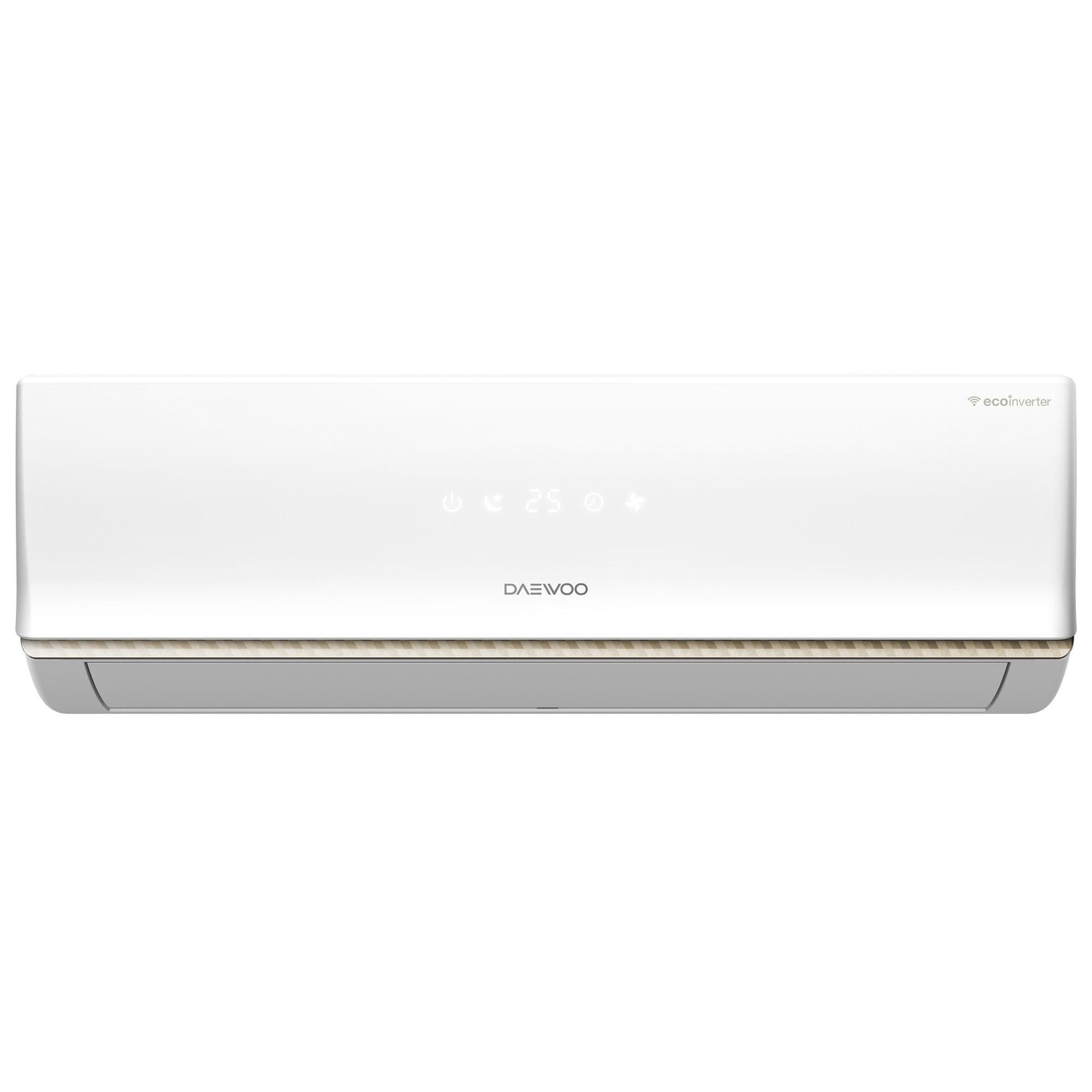 Fotografie Aparat de aer conditionat Daewoo 24000 BTU Wi-Fi, Clasa A++, kit instalare inclus, 4 directii de ventilare, DSB-H2402JLH-VKW, Alb