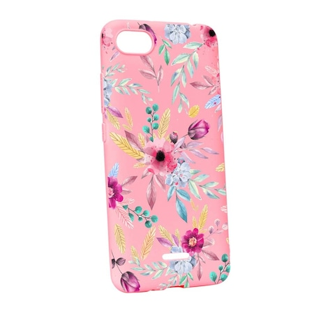 Силиконов калъф Unique за Xiaomi Redmi 6A, Happy Flowers, P69
