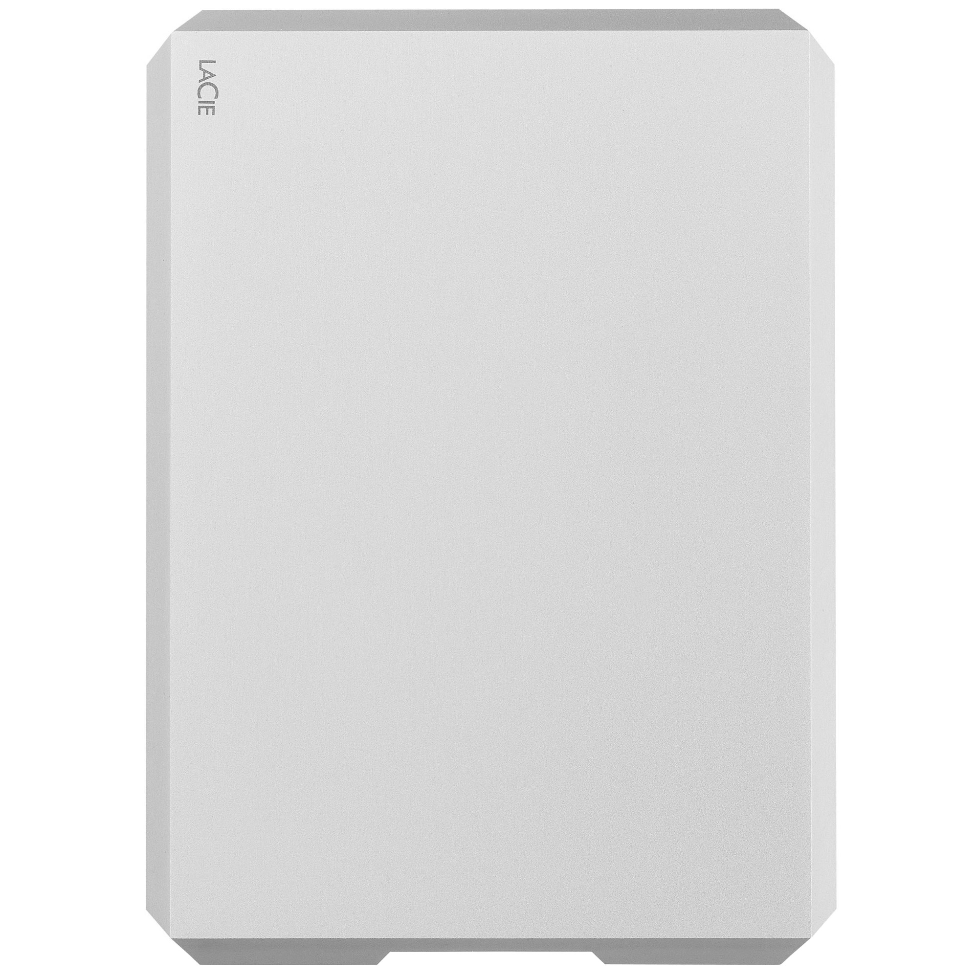 """Fotografie HDD Extern LaCie Mobile Drive 5TB, 2.5"""", USB 3.1 Type-C, Moon Silver"""