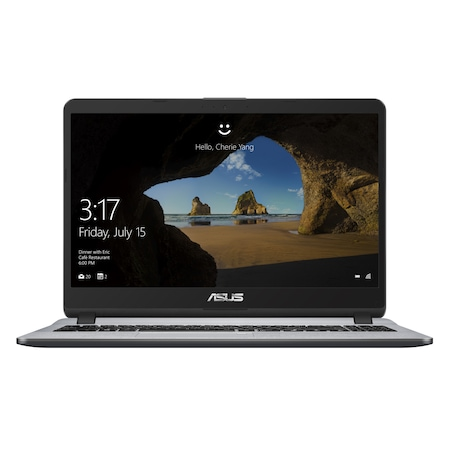 Лаптоп ASUS X507UA-EJ1055 с Intel Pentium 4417U (2.30 GHz, 2 MB), 4 GB, 256GB SSD, Intel HD Graphics 610, Free DOS, сив / Сребрист 90NB0HI1-M14980