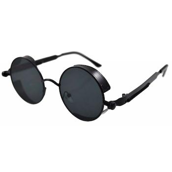 Ochelari de soare Rotunzi Steampunk Cronic Negru, Negru