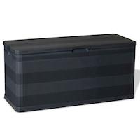 Lada depozitare 280 L, vidaXL, Plastic, 117 x 45 x 56 cm, Negru