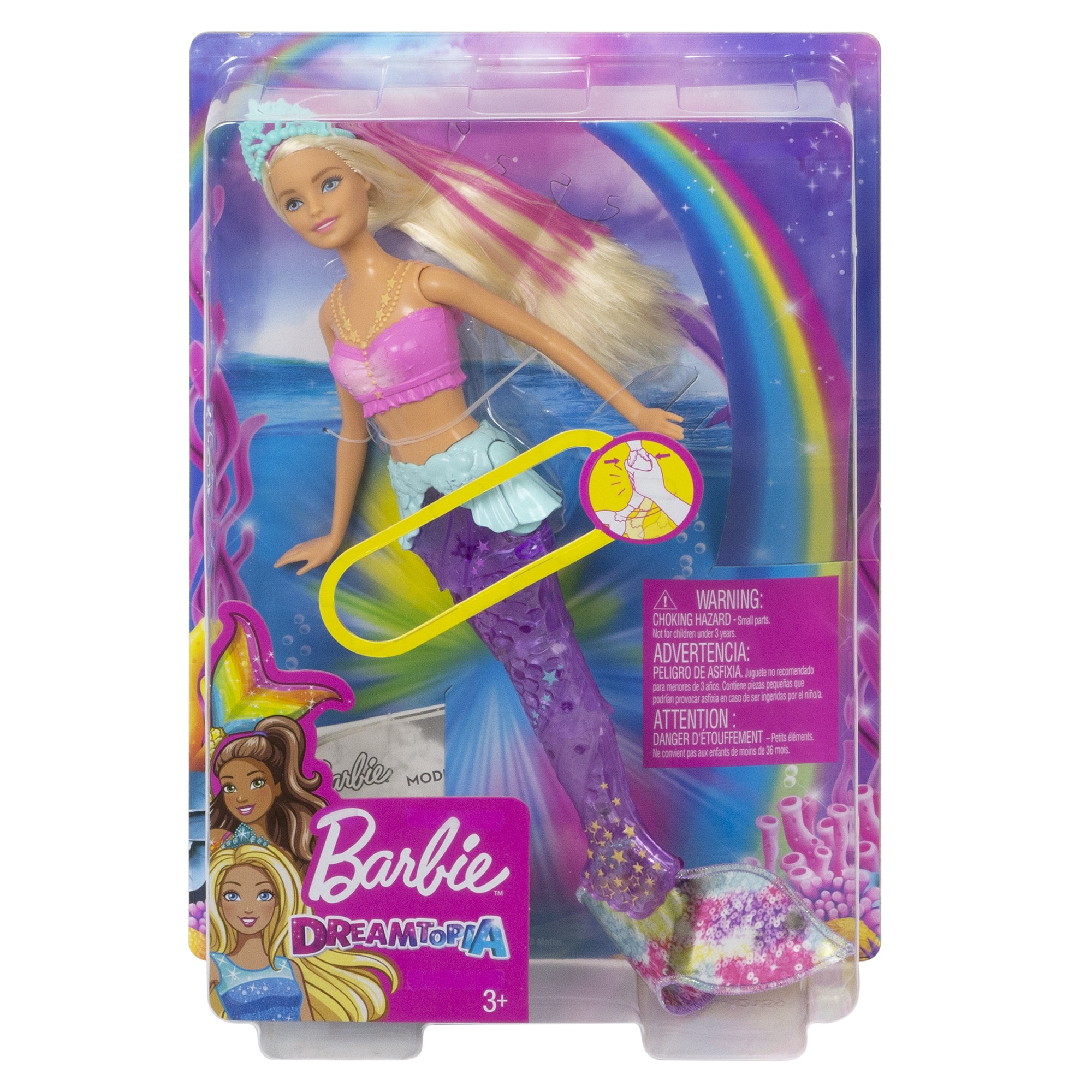 Fotografie Papusa Barbie® Dreamtopia - Sirena Sparkle Lights