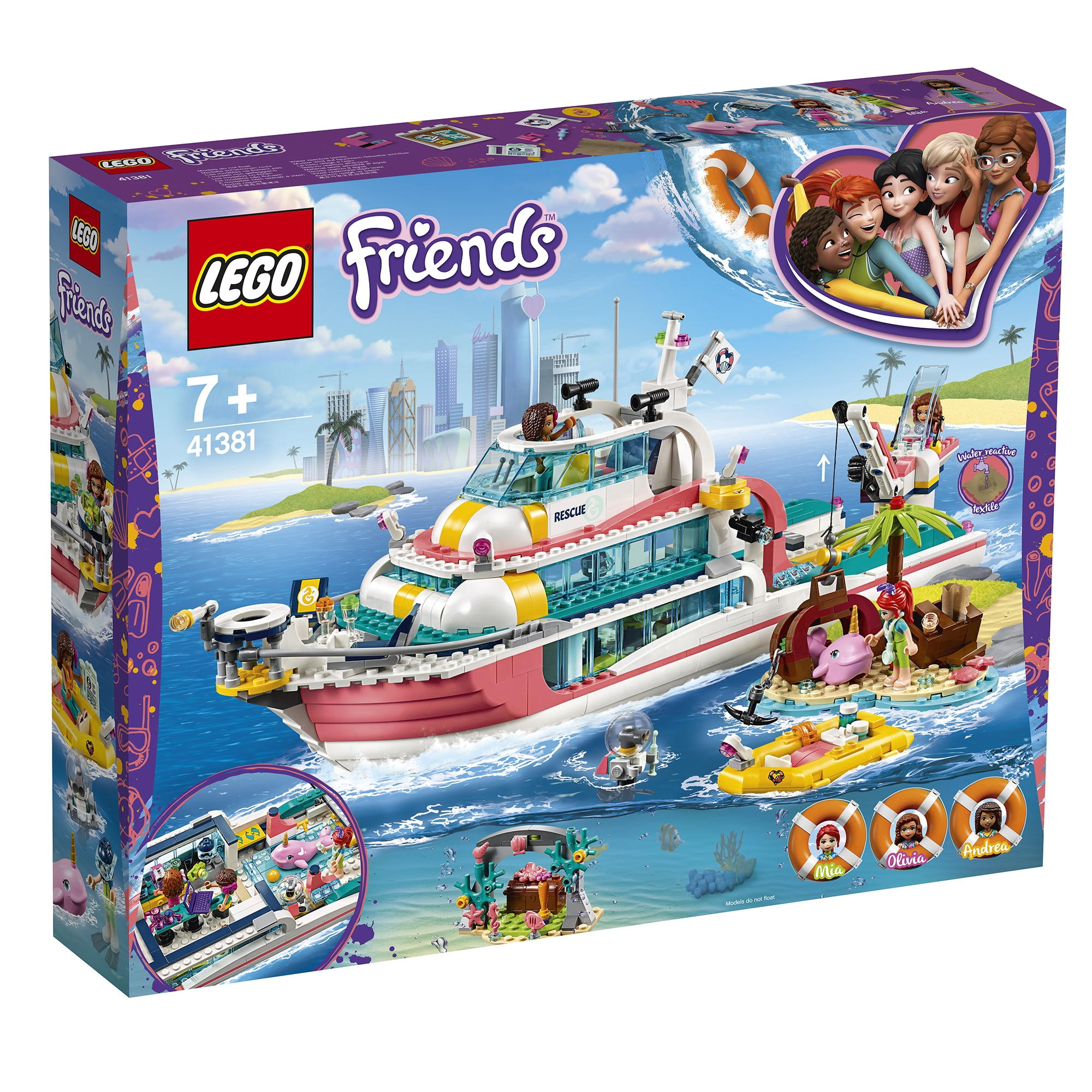 Fotografie LEGO Friends - Barca pentru misiuni de salvare 41381
