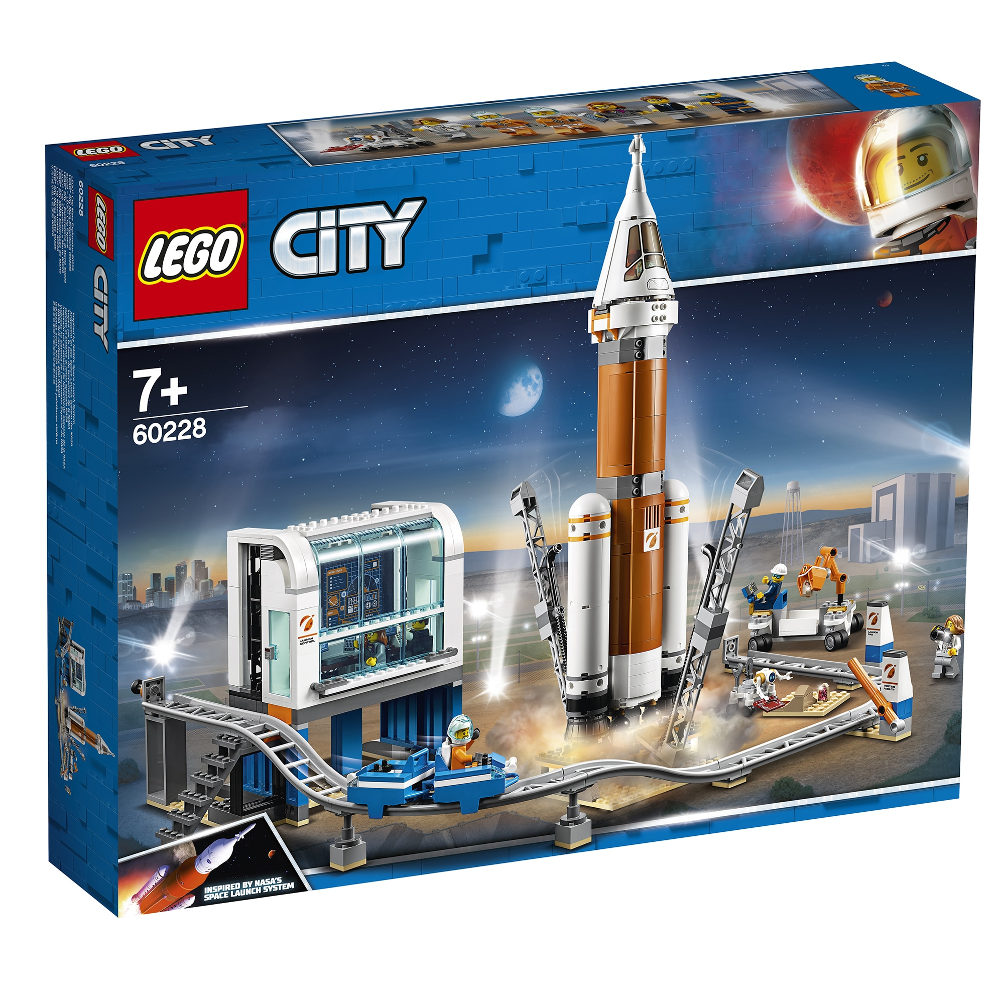 Fotografie LEGO City Space Port - Racheta pentru spatiul indepartat si centrul de comanda al lansarii 60228, 837 piese