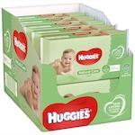Пакет от 10 x Мокри кърпички Huggies Natural Care, Бебешки, 56 броя