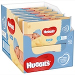 Пакет от 10 х Мокри кърпички Huggies Pure, Бебешки, 56 кърпички