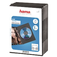 Hama DVD tok, 10 darab, Fekete
