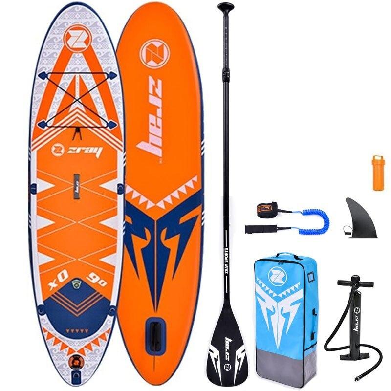 Fotografie Set placa gonflabila Stand Up PaddleBoard Z-RAY X0, 275*71*13 cm, cu pompa si sac pentru transport incluse