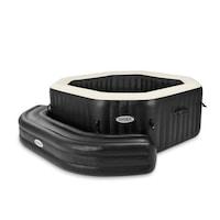 Intex 121128509 Felfújható ülőpad INTEX Pure Spa Octagon wellness jakuzzi medencékhez, 211x66x34cm, sötétbarna Többszínű