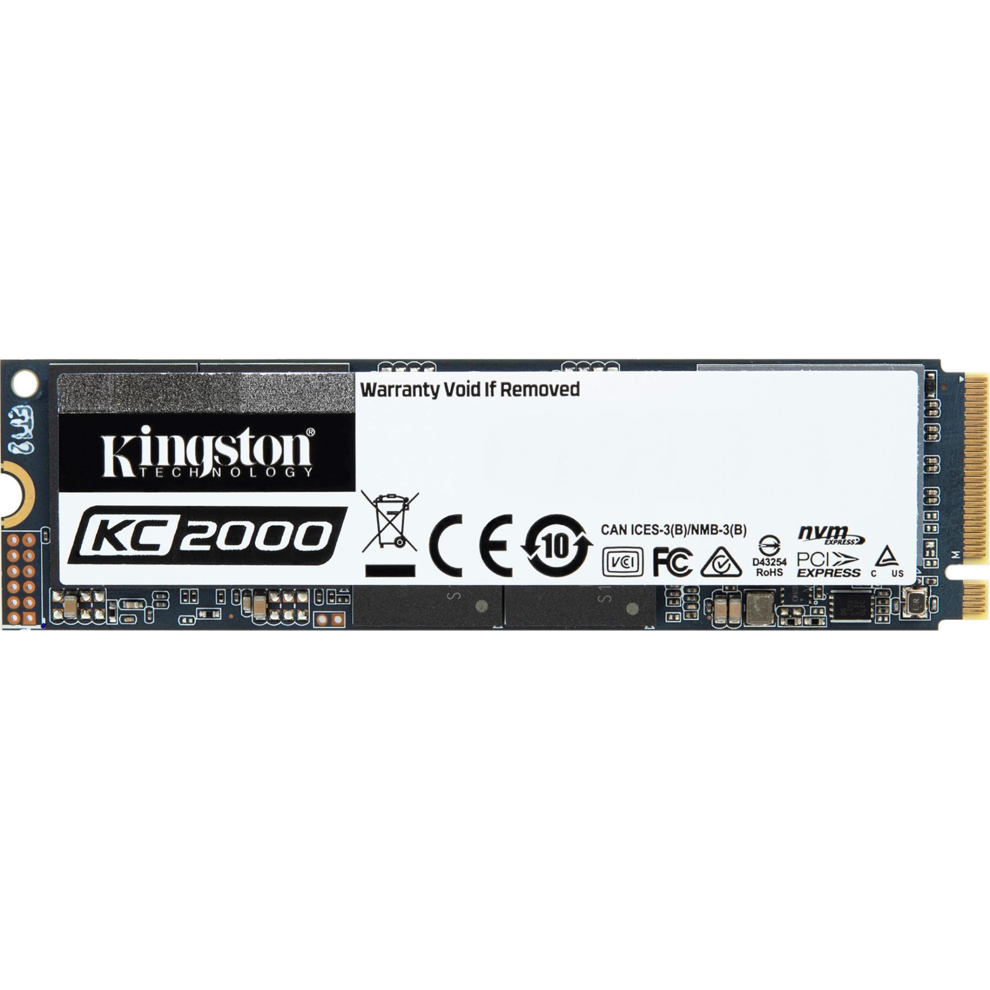 Fotografie Solid-state drive (SSD) Kingston KC2000, 1TB, M.2, NVMe
