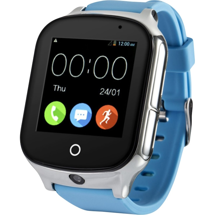 Fotografie Ceas smartwatch copii Wonlex GW1000S, 3G, GPS, Functie telefon, SIM prepay cadou, Albastru