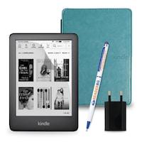 Комплект: eBook четец Kindle (2019), Черен + Калъф Classic, Електрик