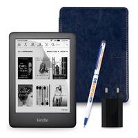 Комплект: eBook четец Kindle (2019), Черен + Калъф Classic, Тъмносин