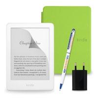Комплект: eBook четец Kindle (2019), Бял + Калъф Slim, Зелен