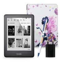 Комплект: eBook четец Kindle (2019), Черен + Калъф, Фея