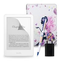 Комплект: eBook четец Kindle (2019), Бял + Калъф, Фея