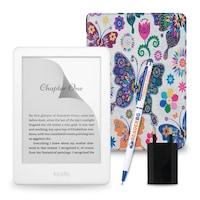Комплект: eBook четец Kindle (2019), Бял + Калъф, Пеперуди