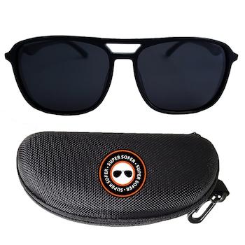 Ochelari de soare model Pilot, polarizati, Toc inclus