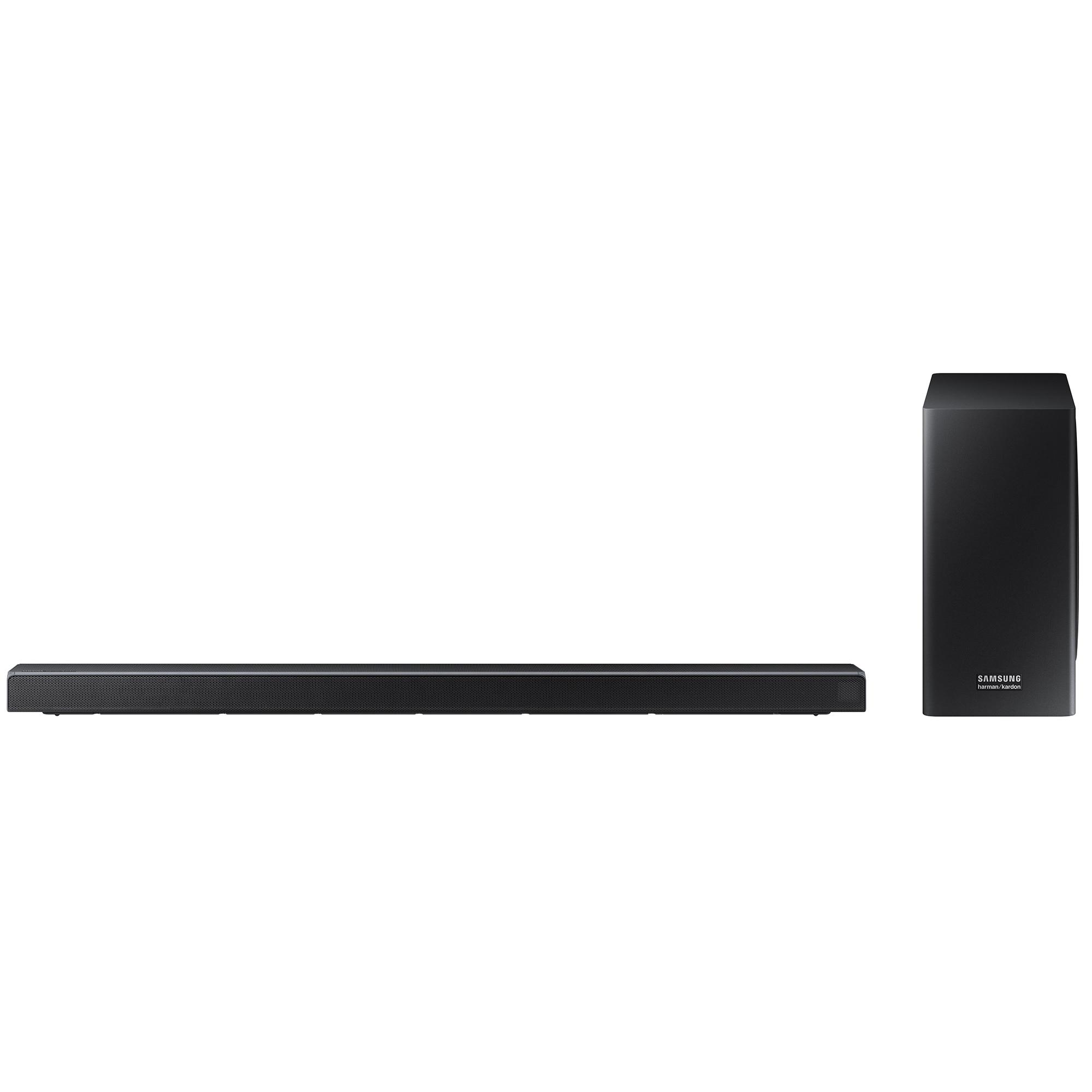 Fotografie Soundbar Samsung Harman Kardon HW-Q70R, 3.1.2, 330W, Wireless, Dolby Atmos, dts:X, Negru