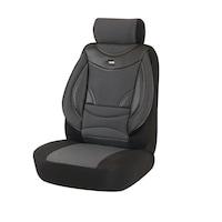 Комплект калъфи за седалки за кола Amio, тапицерия за предни и задни седалки,Пълен комплект 8 части, Тъмносив