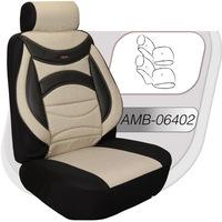 Автотапицерия за предни и задни седалки Amio, Пълен комплект от 8 части, Бежов