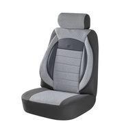 Комплект калъфи за седалки за кола Amio, тапицерия за предни и задни седалки , Пълен комплект 8 части, Сив