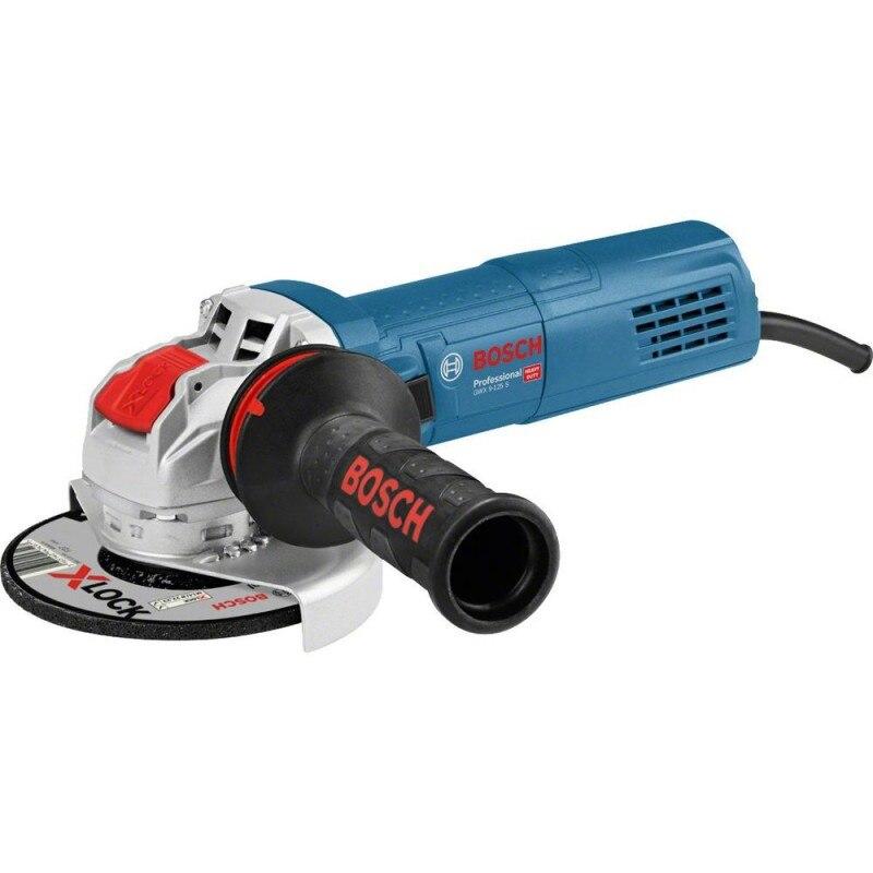 Fotografie Polizor unghiular Bosch Professional X-Lock GWX 9-125 S, 900 W, 11.000 RPM, 125 mm diametru disc+ maner auxiliar + aparatoare de protectie