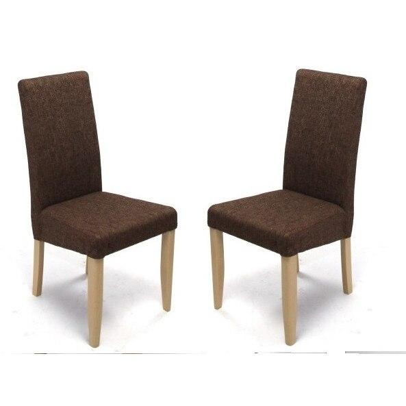 2db Ikoni Berti szék sonoma tölgy/sötétszövet tömörfa, kárpitozott ns l3yXlt