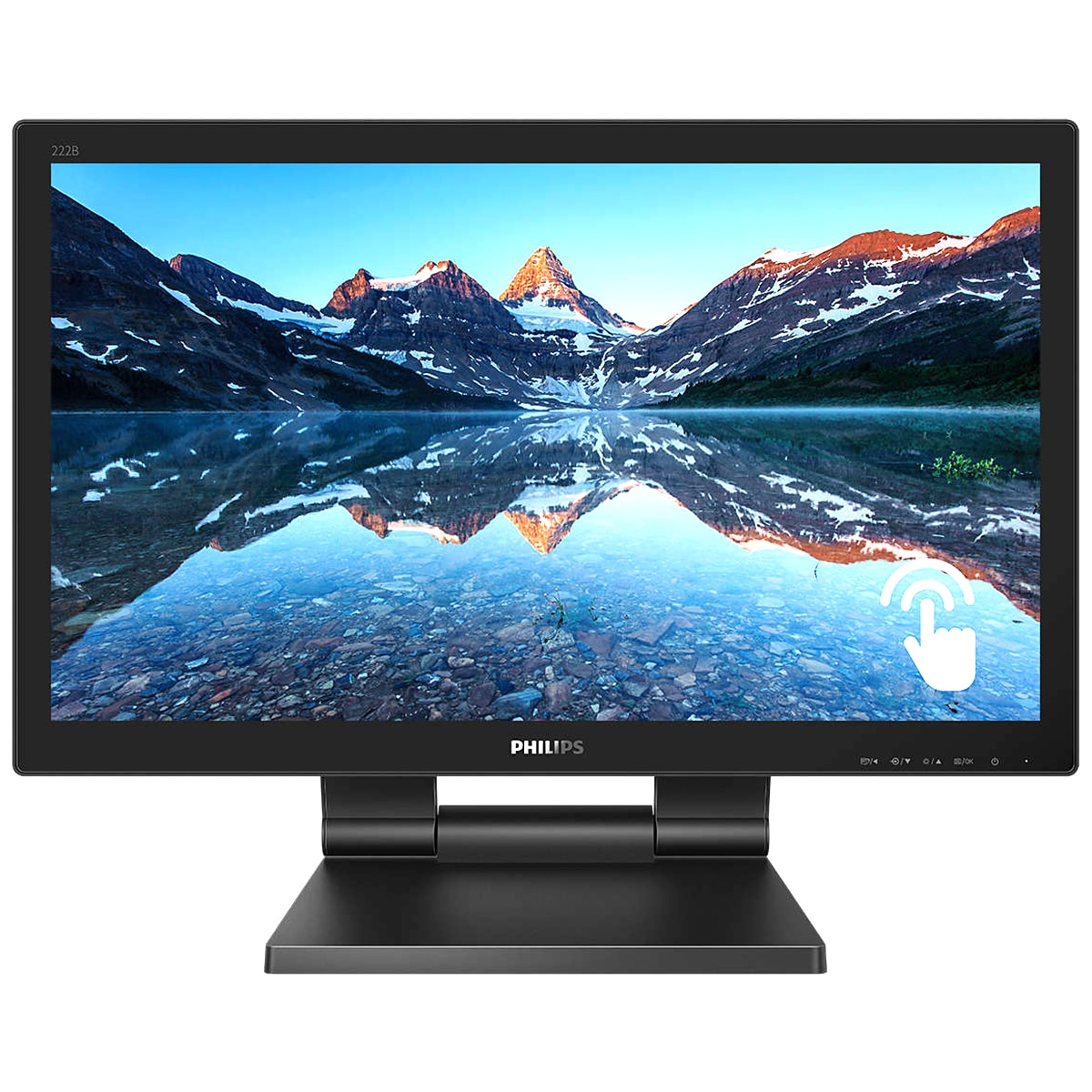 "Fotografie Monitor touchscreen LED TN Philips 21.5"", Full HD, Display Port, 1ms, Negru"