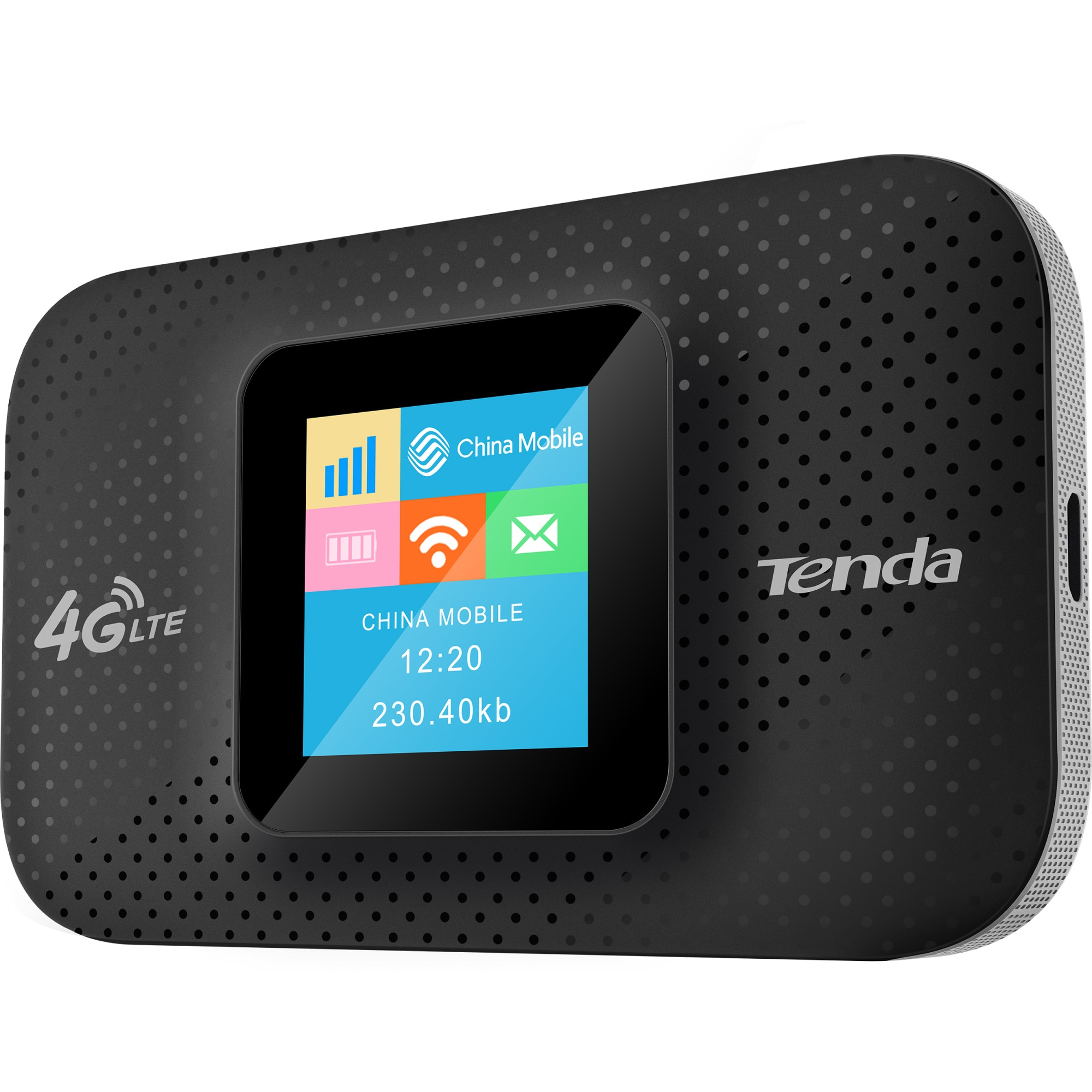 Fotografie Router wireless Tenda 4G185, 4G/3G, Portabil, 150 Mbps, Display OLED, Baterie 2100mAh