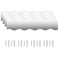 vidaXL 4 db hullám alakú falitükör 110 x 23 cm