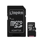 Kingston 128gb sd micro canvas select 80r (sdxc class 10 uhs-i) (sdcs/128gb) memória kártya adapterrel